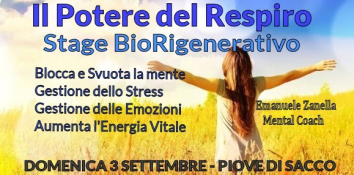 Stage BioRigenerativo-Il Potere del Respiro